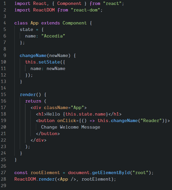 React Component Written in JSX